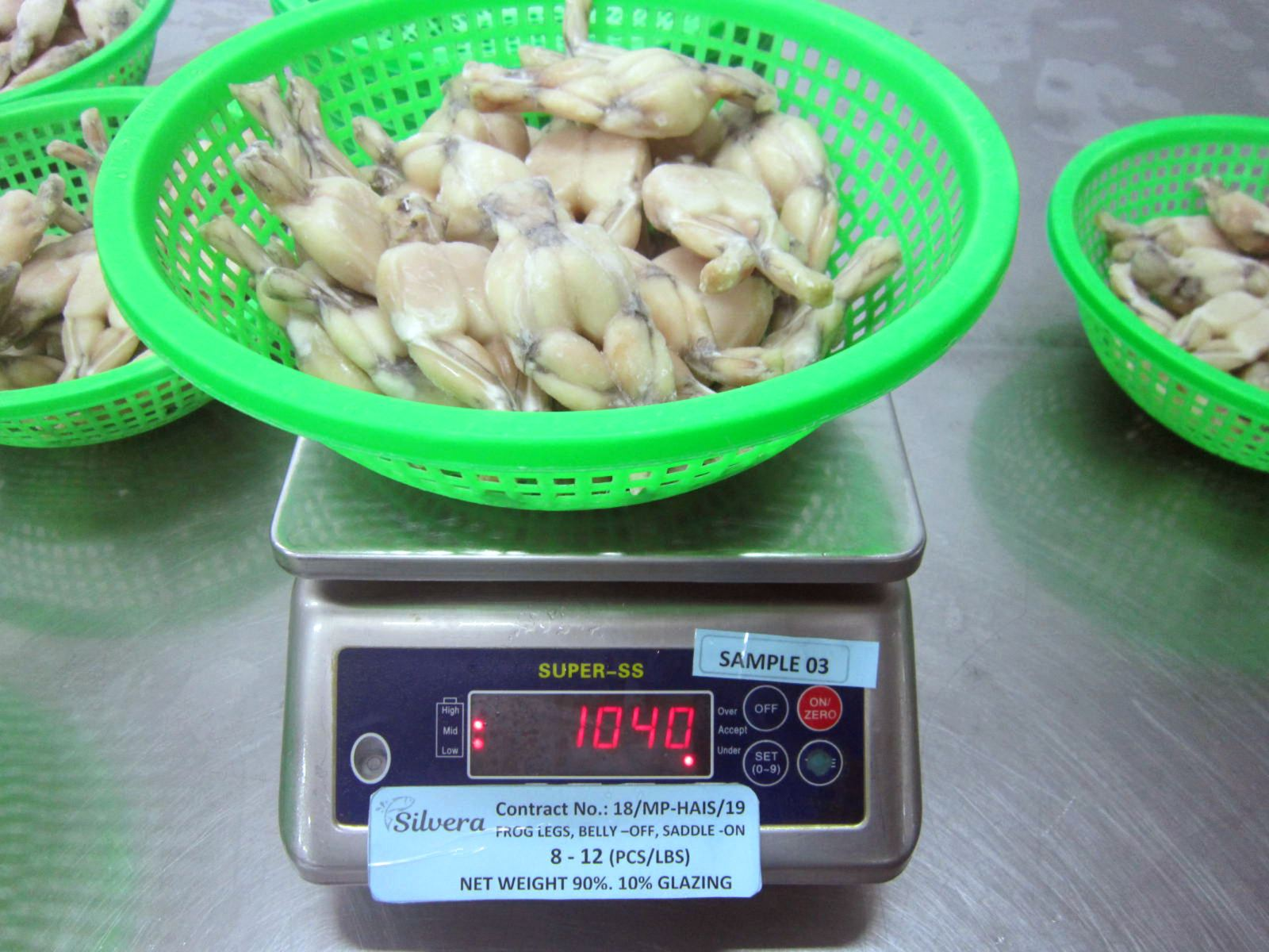 Weighing Frozen Frog Legs