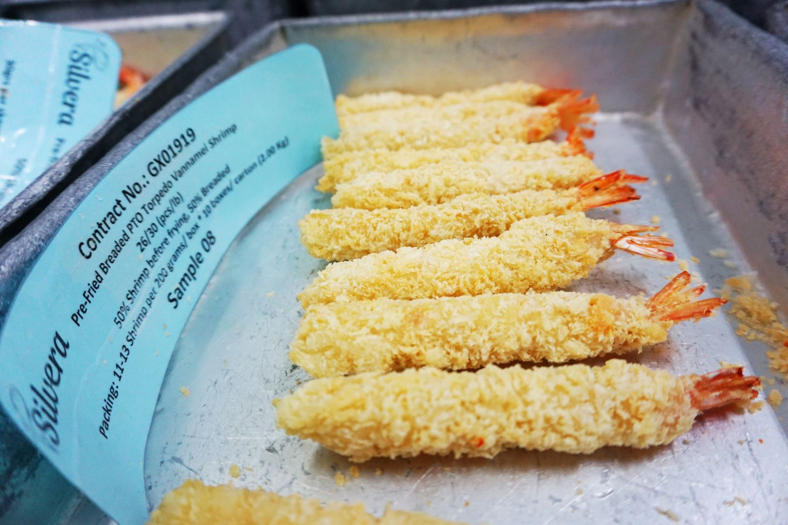 Frozen Pre-fried Breaded Torpedo Vannamei Shrimp